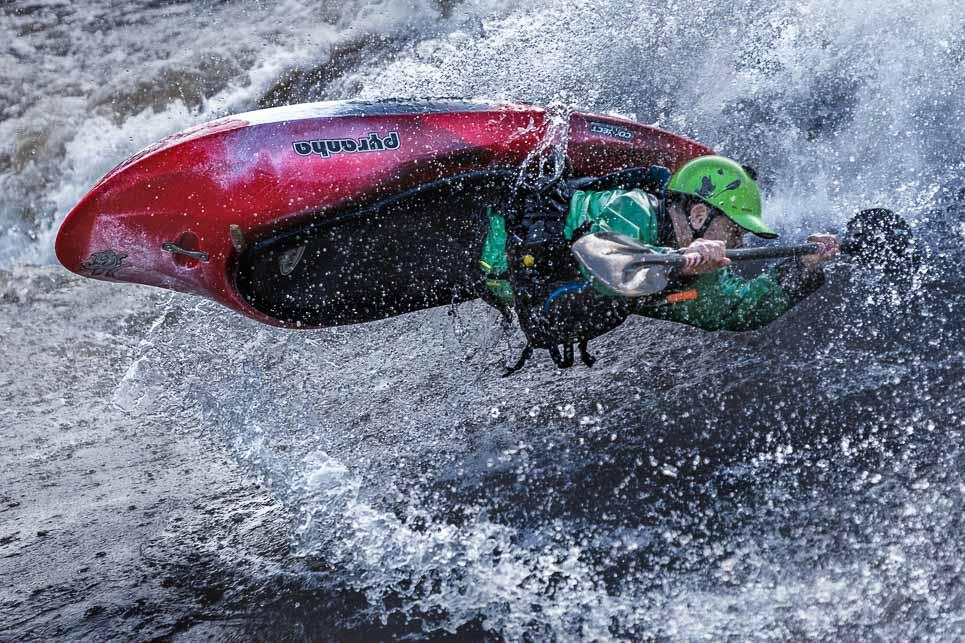 athlete whitewater kayak dries david