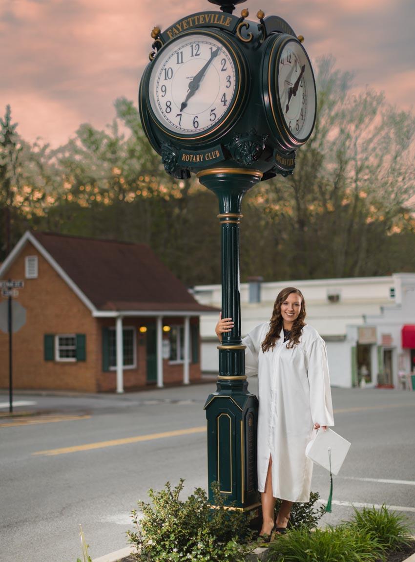 senior cap gown faith