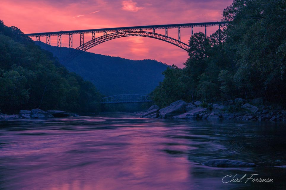 new river gorge bridge sunset