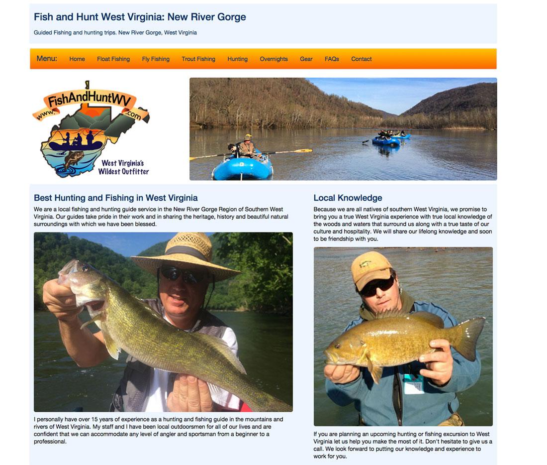 Website design by foreman creative website portfolio for Hunt fish va