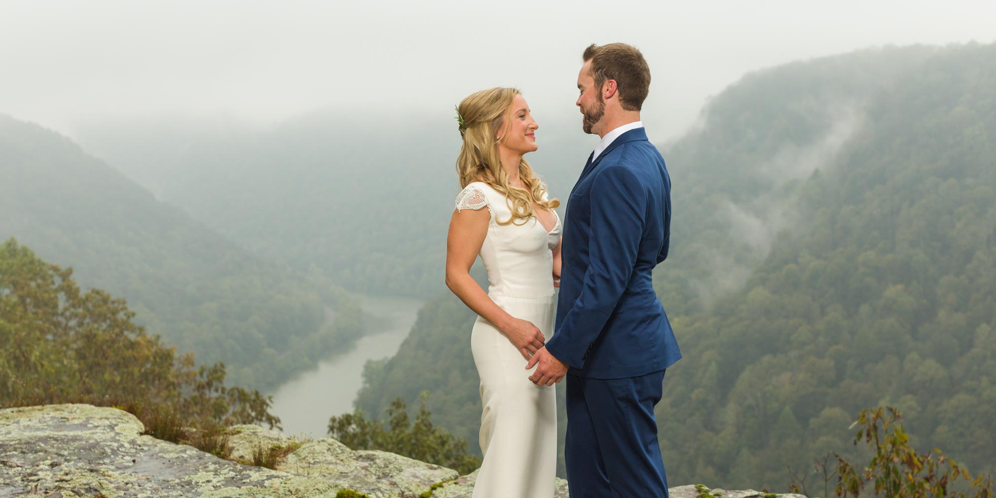 outdoor wedding new river gorge