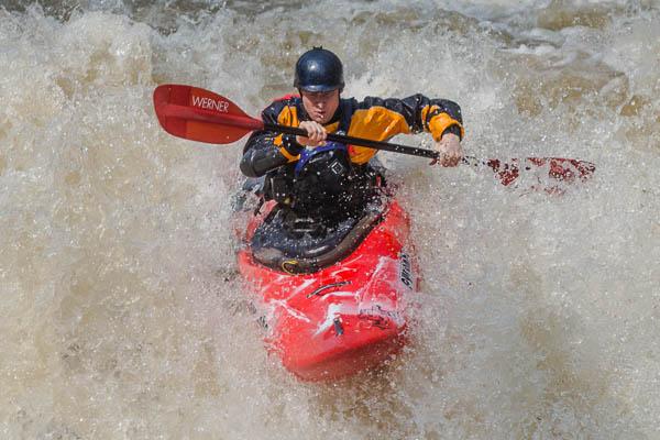 Whitewater Kayaker Sam on Manns Creek