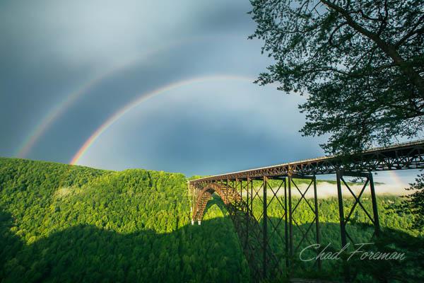 New River Gorge Double Rainbow
