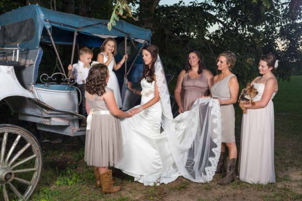 wedding rustic bridesmaids