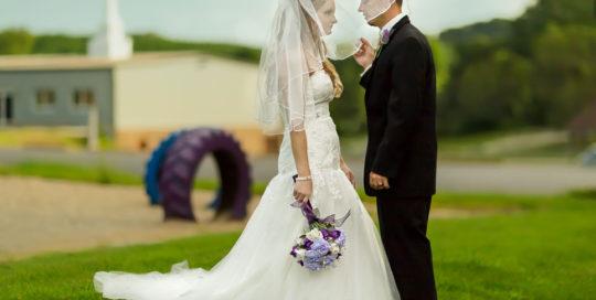 Wedding Traditional under veil