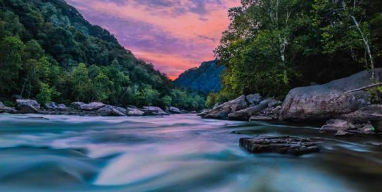 landscape photography river rapid