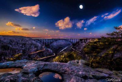 long-point evening landscape hdr