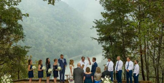 wedding outdoor new river ceremony