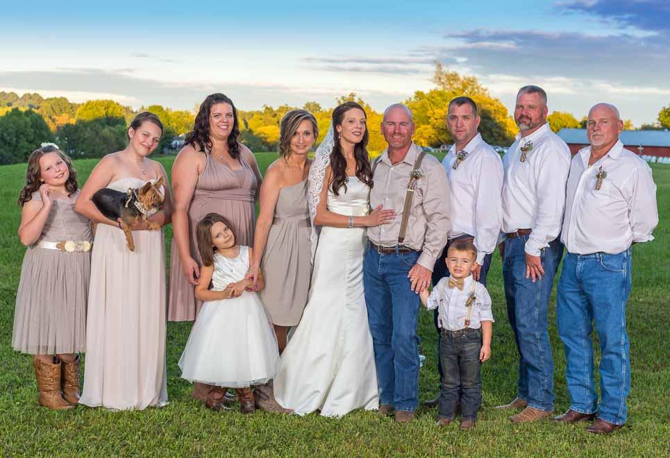 rustic wedding photography group