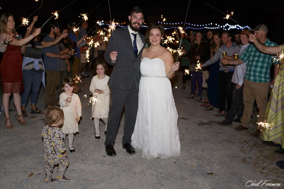 wedding photography wv sparklers