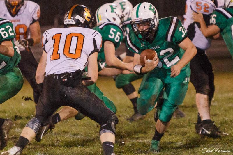 Fayetteville Football Senior night running back