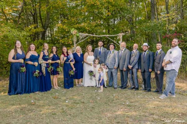 the wedding party group photo