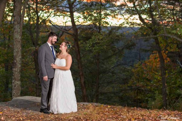 Bride and Groom wedding portrait New River Gorge, WV