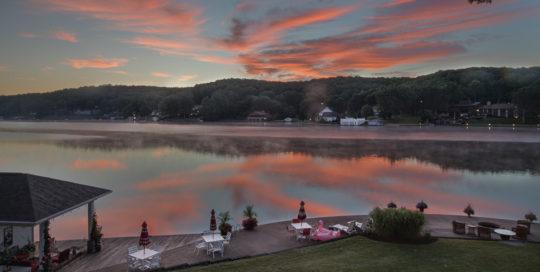 Melton Lake House Sunrise View over Flat Top Lake