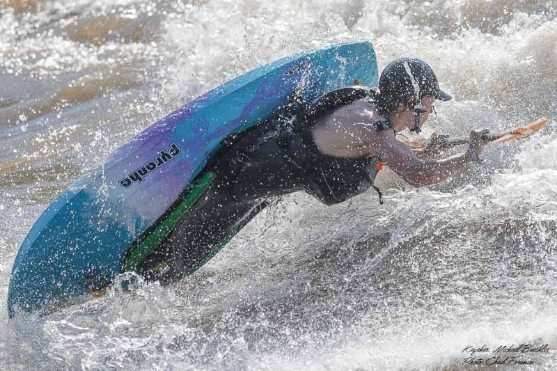whitewater kayak air screw Micheal Buechler