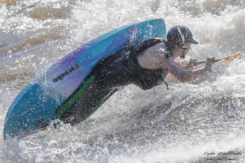 whitewater kayak air screw Micheal Buechler