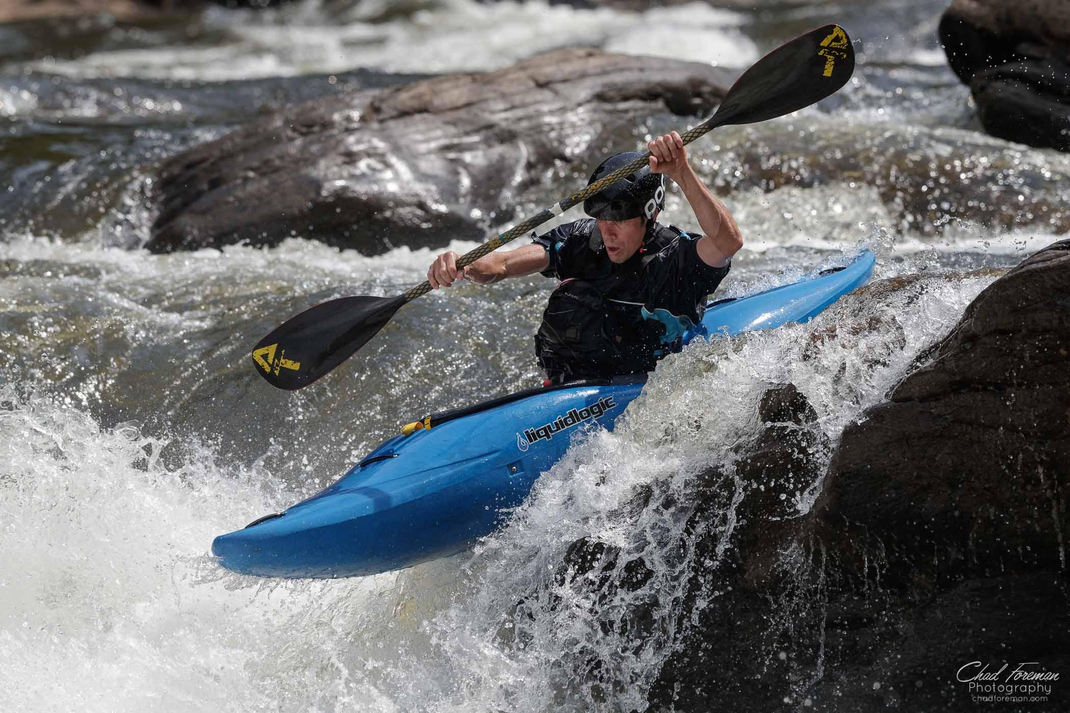 adventure sports photography river kayak boof