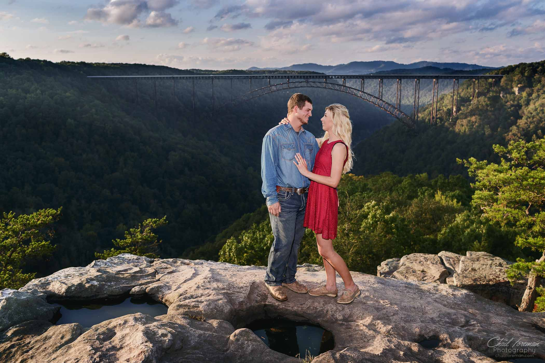 Engagement Photography New River Gorge by Chad Foreman