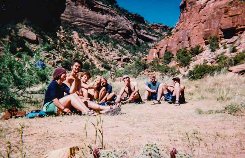 1998 Delores Whitewater Rafting Trip Friends