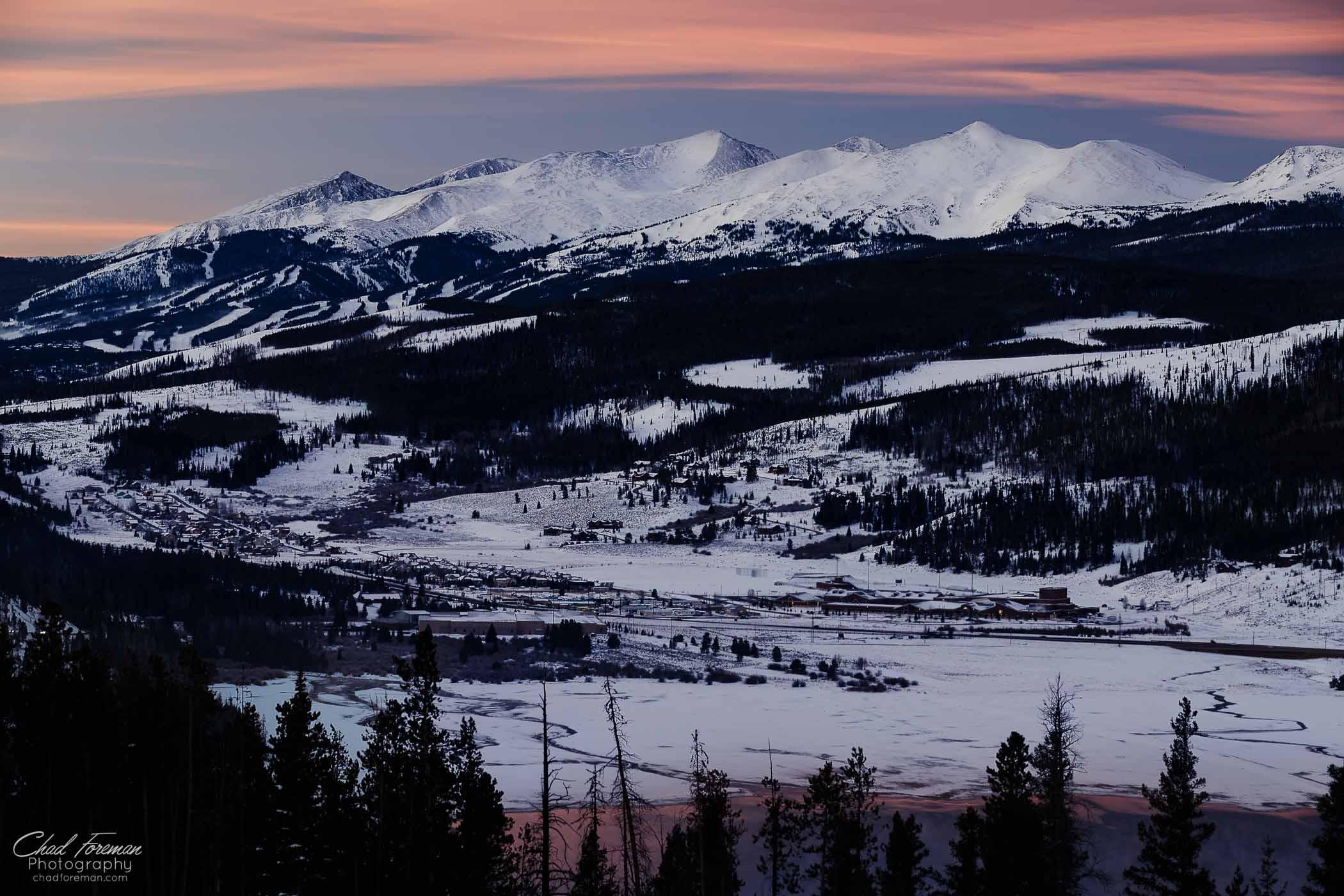 landscape photography breckenridge sunrise