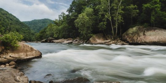 landscape photography chad foreman new river gorge rapid