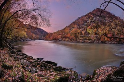landscape photography new river gorge twilight