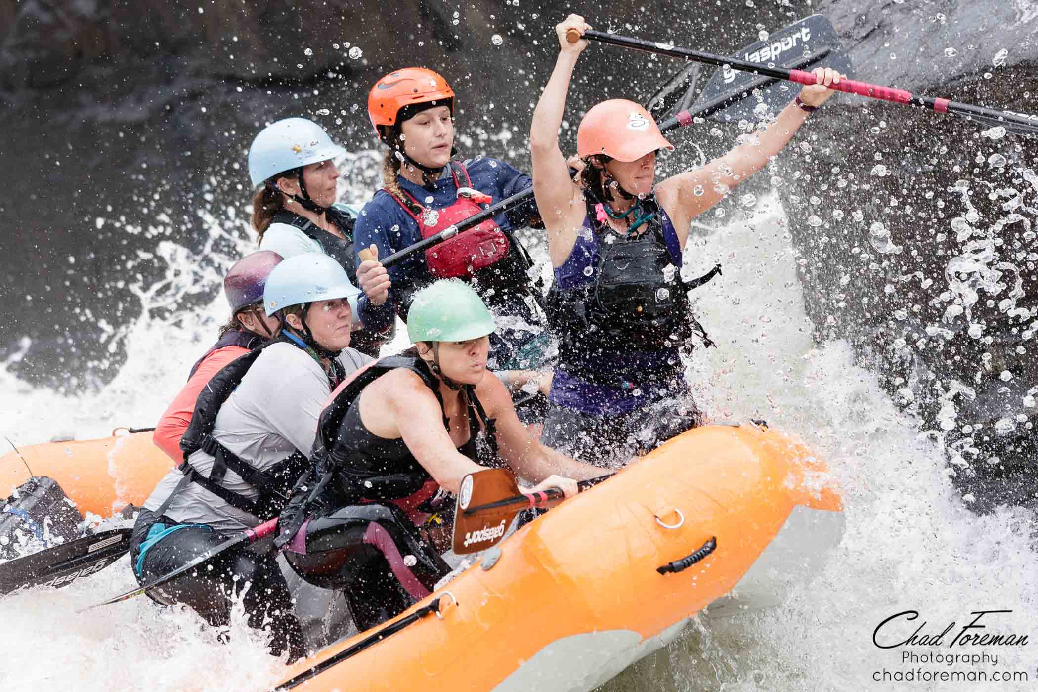 womens nationals raft racing on the gauley river