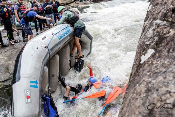 Whitewater rafting on the Gauley River
