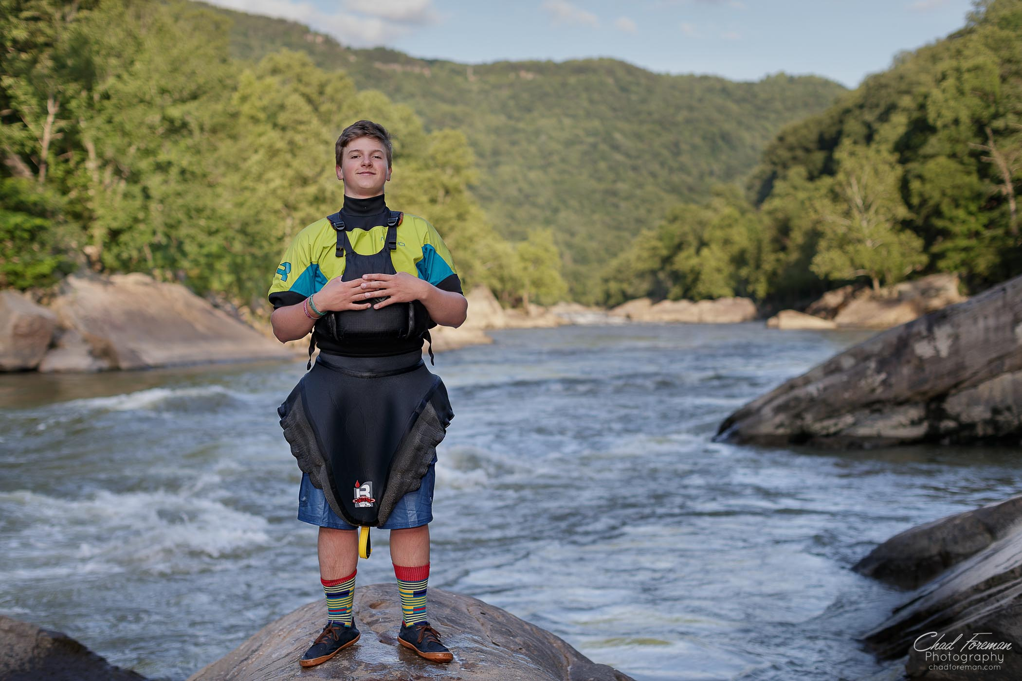 river athlete profile portrait