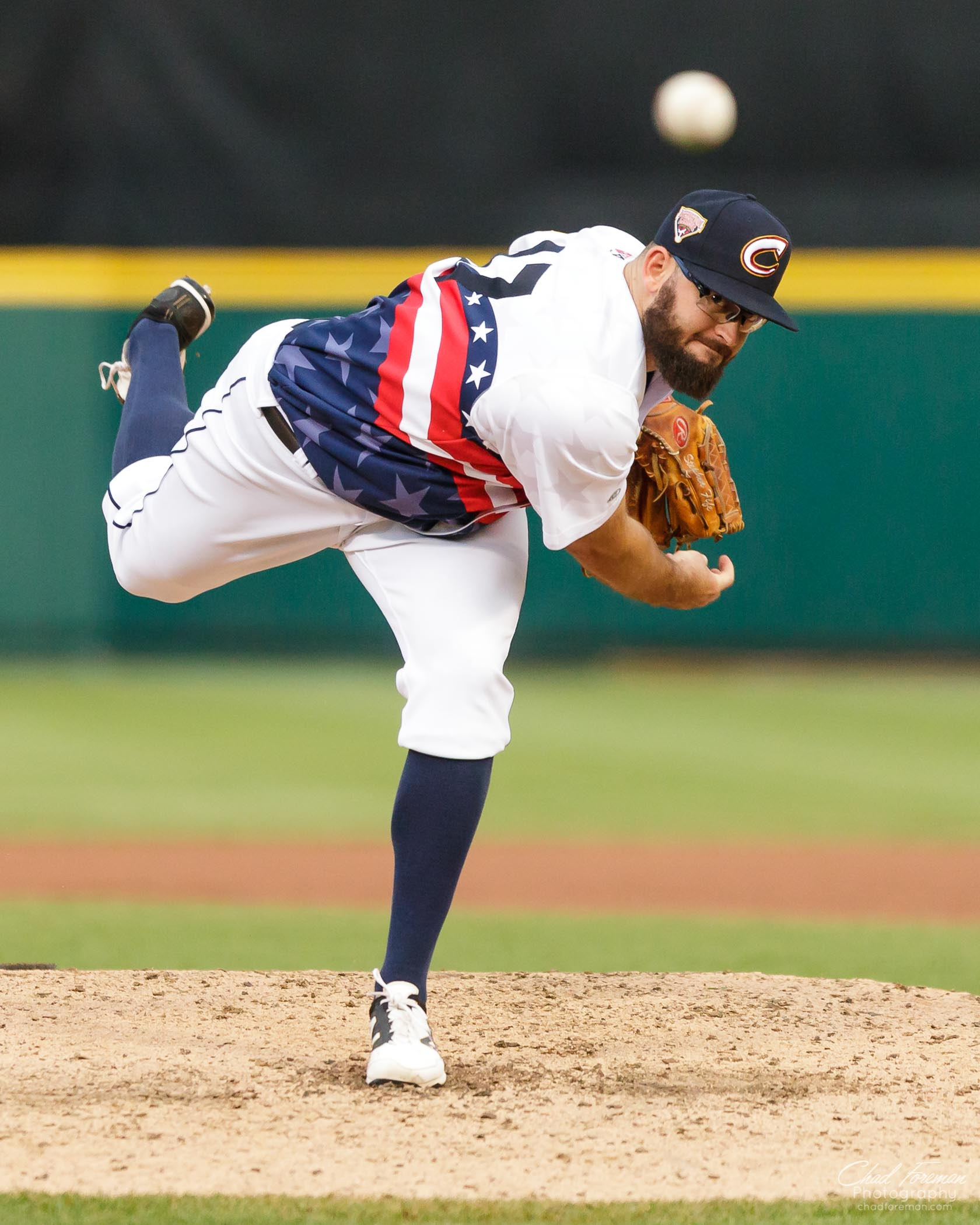 sports photography baseball Columbus clippers pitcher