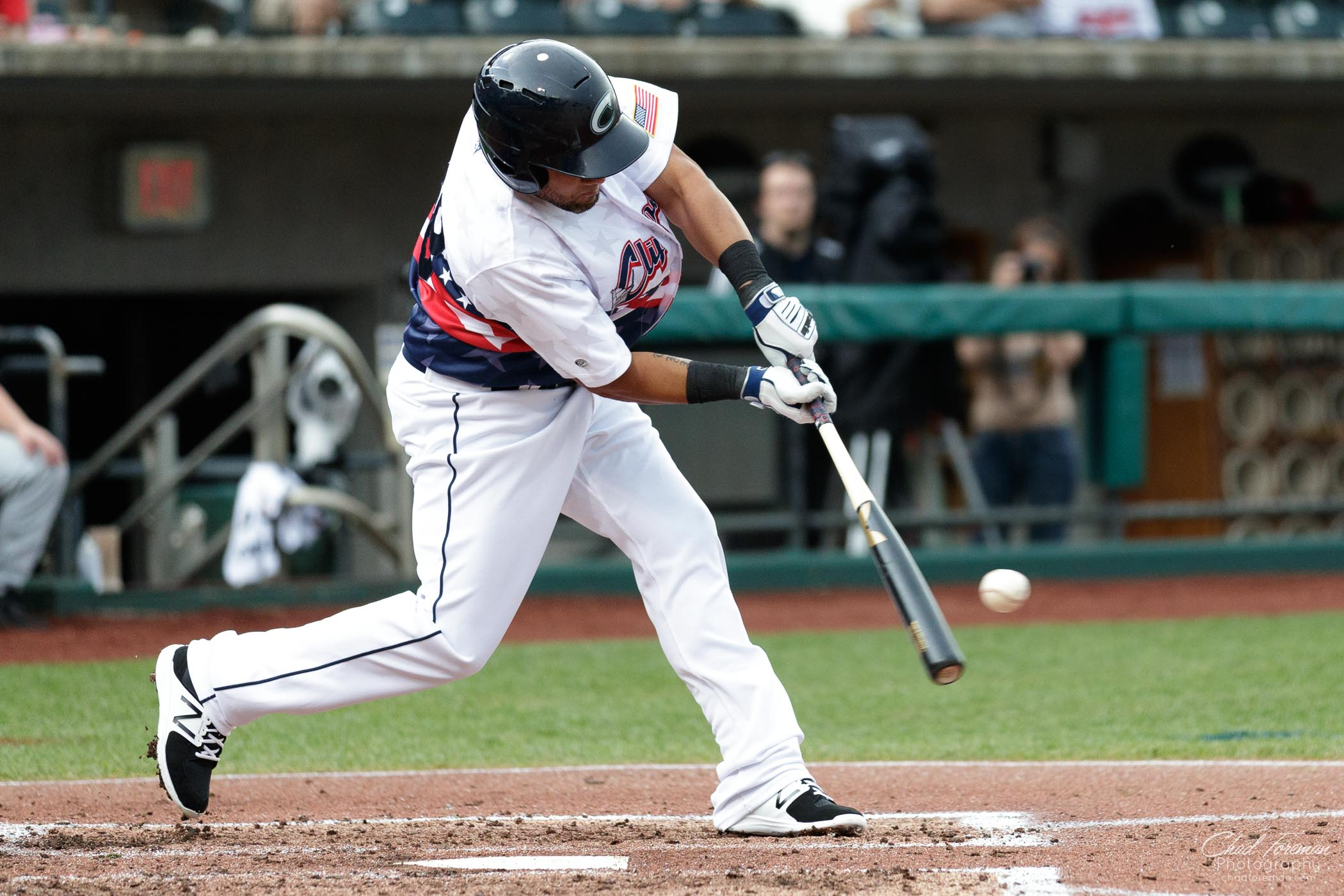 sports photography baseball Columbus clippers batter hit