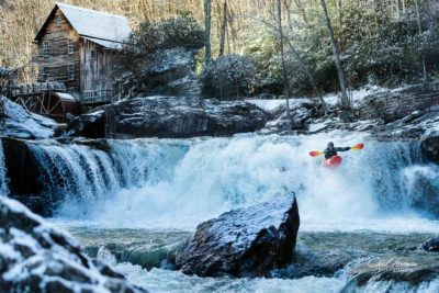 Bryar Skinner runs Gristmill Falls on Mann's Creek.