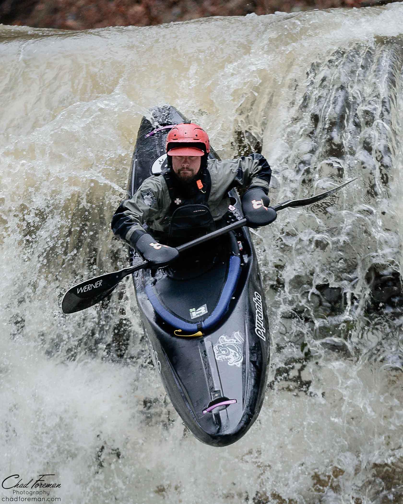 adventure sports photography kayak waterfall