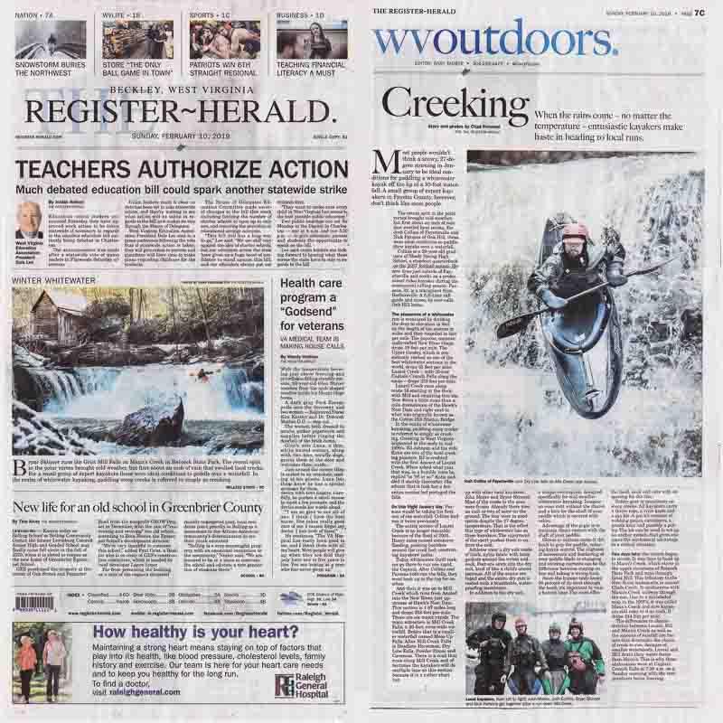 Beckley Register-Herald newspaper story