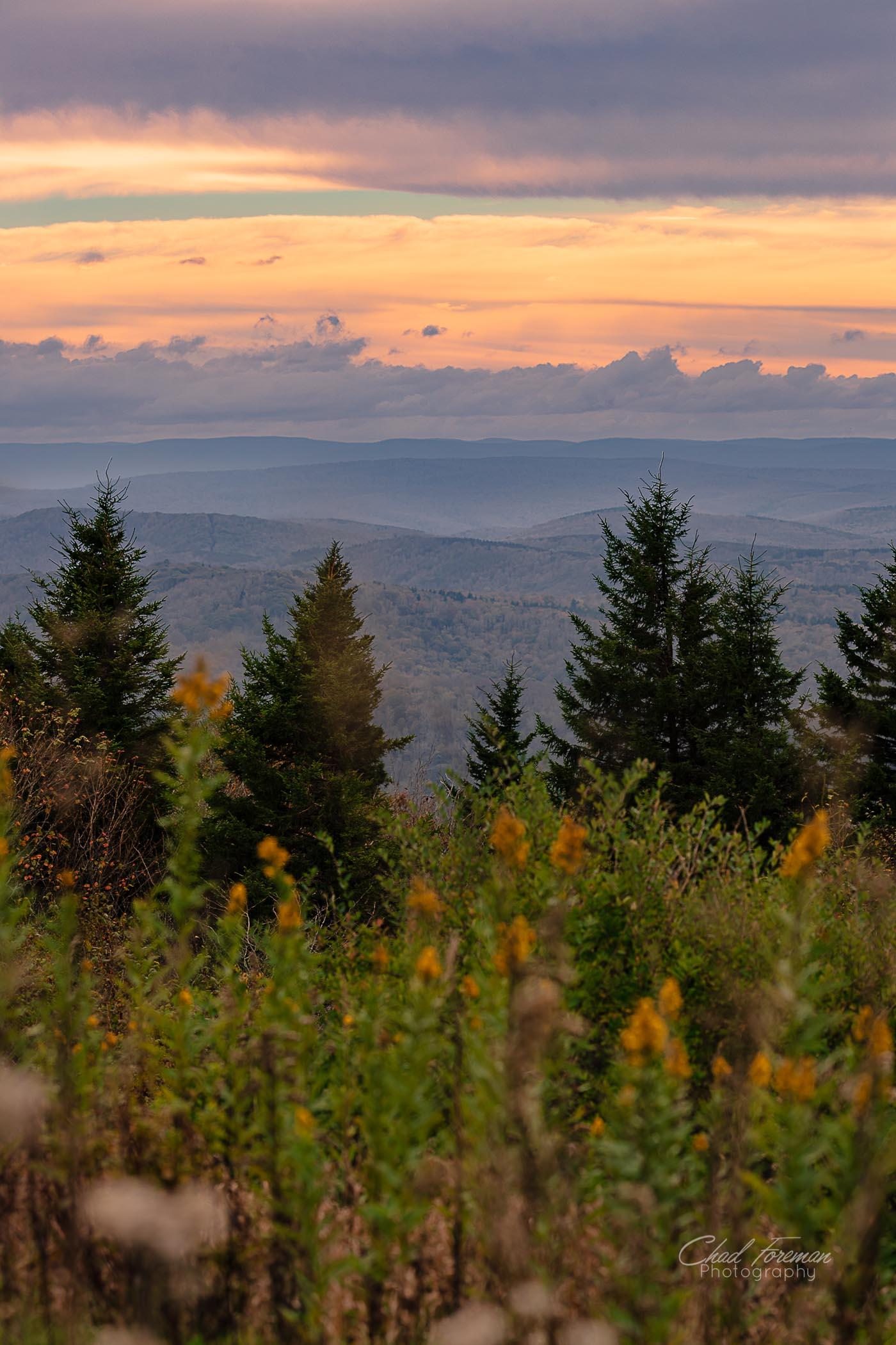 landscape photography spruce knob