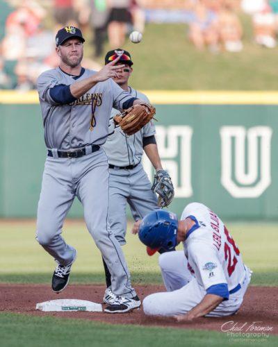 sports photojournalism baseball photography double play