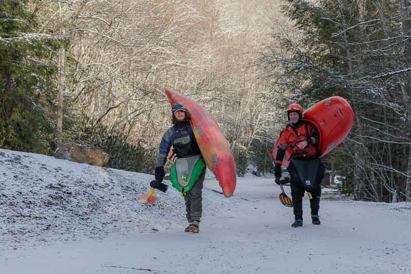 Manns Creek Winter Kayaking