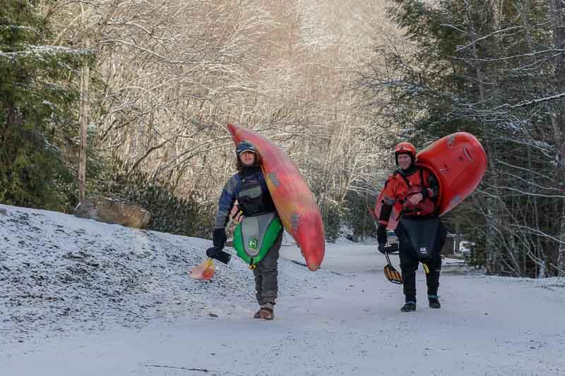 Manns Creek Winter Kayaking