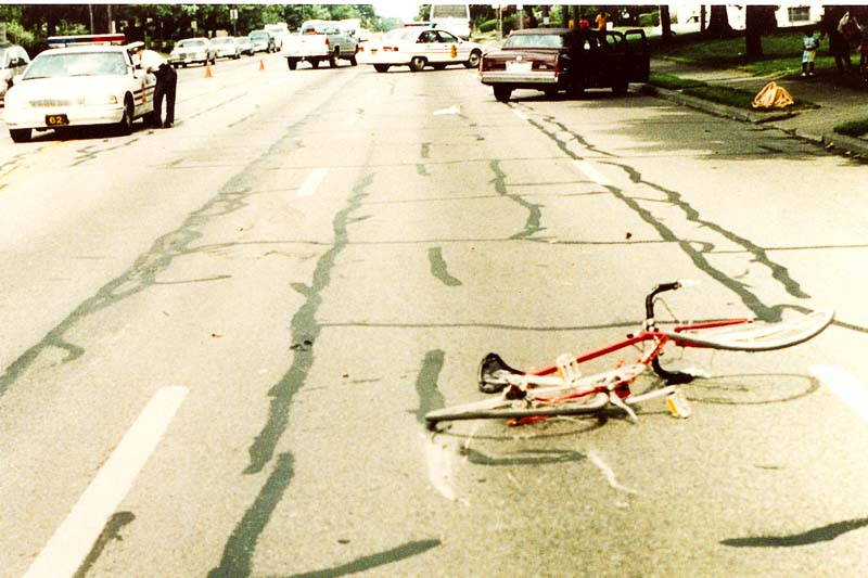 Chad Foreman bicycle accident scene