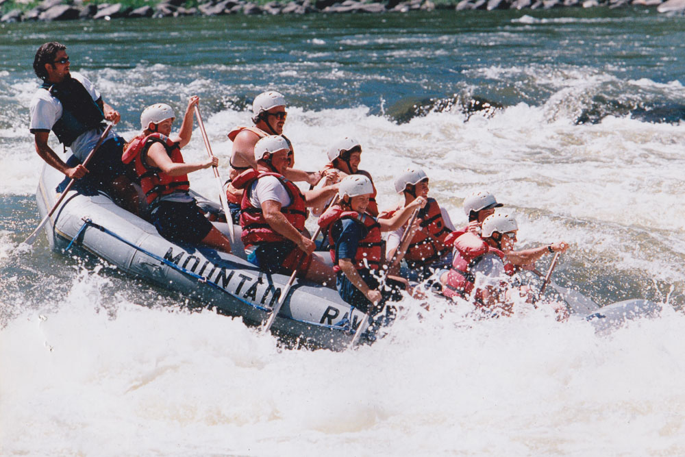 raft guiding-upper railroad new river 1997