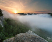 fog patterns in the new river gorge